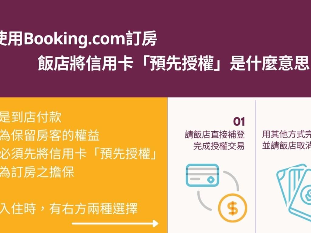 ▌使用Booking.com訂房,飯店將信用卡「預先授權」是什麼意思?